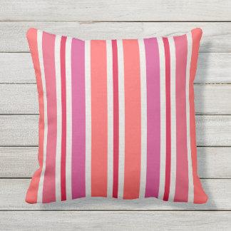 Sommer Stripes Muster rosa | und Rot Kissen Für Draußen