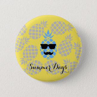 """""""Sommer-Tages"""" Ananas-Abzeichen Runder Button 5,7 Cm"""