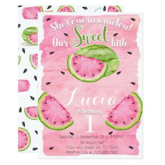 Sommer-Wassermelone-Geburtstags-Party Einladung