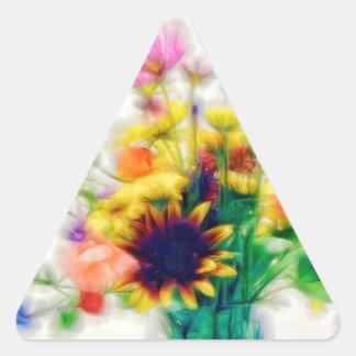 Sommer-Wildblume-Blumenstrauß Dreieckiger Aufkleber