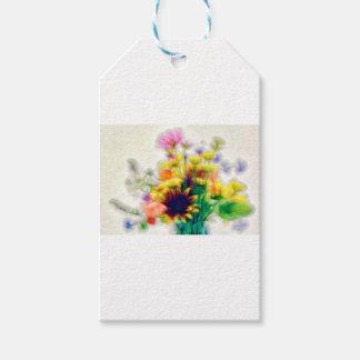 Sommer-Wildblume-Blumenstrauß Geschenkanhänger