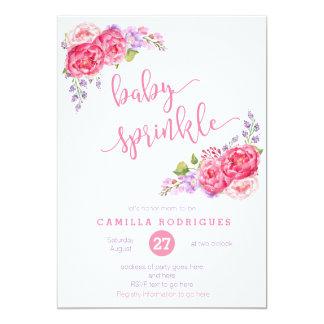 Sommerbaby besprühen einladen, lila Rosa besprühen 12,7 X 17,8 Cm Einladungskarte