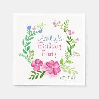 SommerblumenWreath personalisiertes PapierNakins Papierserviette