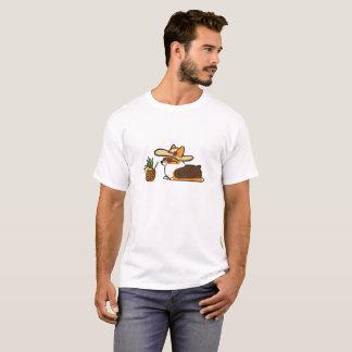SommerCorgi Sunhat Ananas-Getränk-Shirt T-Shirt