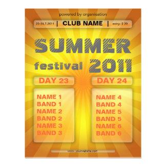 Sommerfestival-Flyer