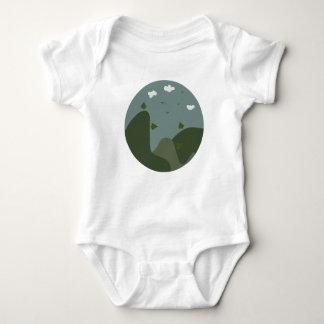 Sommerlandschaft personalisiert baby strampler