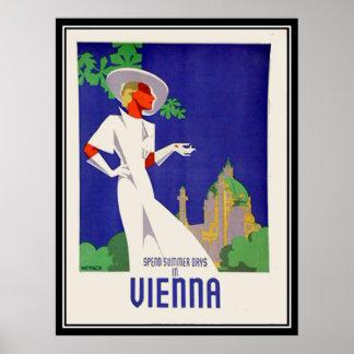 Sommertage in Wien-Druck Poster