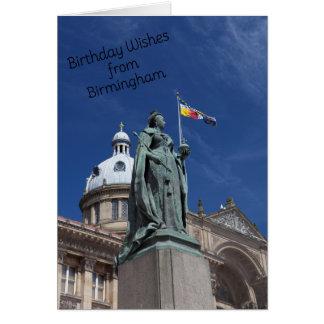 Sommerzeit in der Birmingham-Geburtstags-Karte Karte