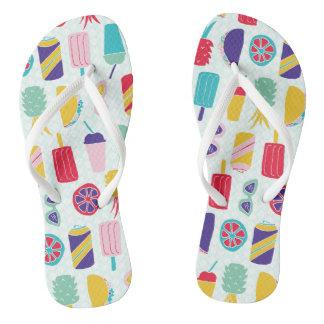 Sommerzeit-Spaß - drehen Sie Reinfälle um Flip Flops