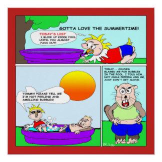 Sommerzeit-Spaß-Plakat Poster