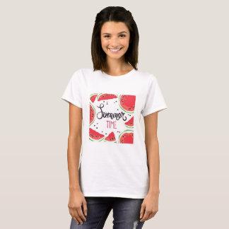 Sommerzeit-Wassermelone T-Shirt
