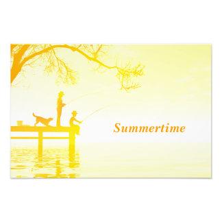 Sommerzeitplakat Photodruck