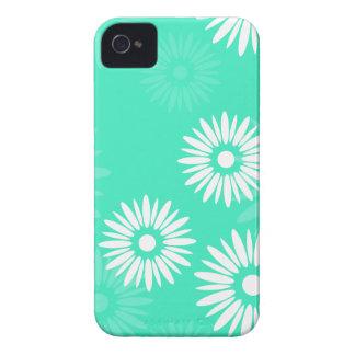 Sommerzeittürkis-Blumen BlackBerry-mutiger Kasten iPhone 4 Case-Mate Hülle