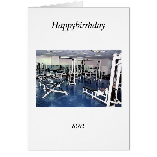 son Geburtstag Grußkarte