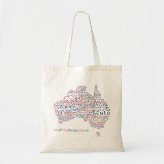 Sonderausgabe-australische Jargon-Tasche Budget Stoffbeutel