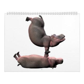 Sonderbare Flusspferde Kalender