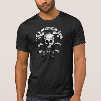 Sonderbare Gefährte-FLT Schädel und Kragen T-Shirt