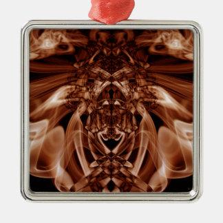 Sonderbarer Rauch (24).JPG Quadratisches Silberfarbenes Ornament
