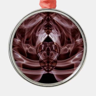 Sonderbarer Rauch (27).JPG Rundes Silberfarbenes Ornament
