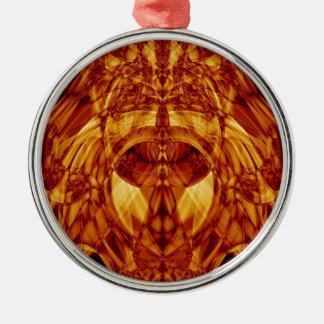 Sonderbarer Rauch (29).JPG Rundes Silberfarbenes Ornament
