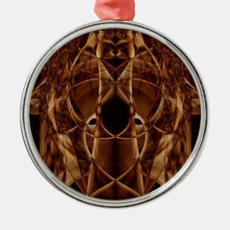Sonderbarer Rauch (30).JPG Rundes Silberfarbenes Ornament