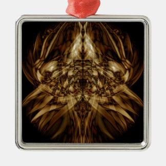Sonderbarer Rauch (34) Quadratisches Silberfarbenes Ornament