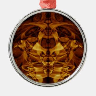 Sonderbarer Rauch (39) .JPG Rundes Silberfarbenes Ornament