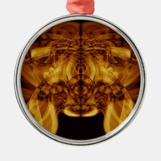 Sonderbarer Rauch (46) .JPG Rundes Silberfarbenes Ornament