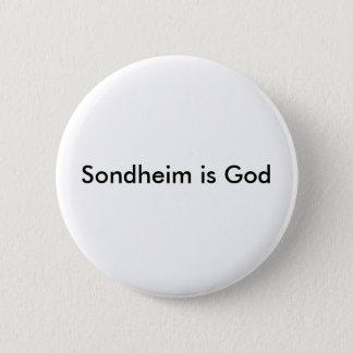 Sondheim ist Gott-Knopf Runder Button 5,7 Cm