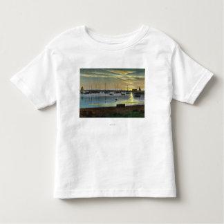 Sonnenaufgang am alten Hafen Kleinkinder T-shirt