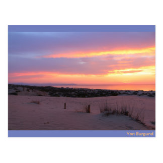 Sonnenaufgang am Stand von Guardamar, Spanien Postkarte