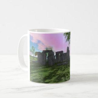 Sonnenaufgang-Anbetung Stonehenge 11oz klassische Kaffeetasse
