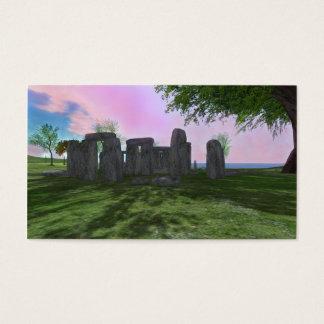 Sonnenaufgang-Anbetung Stonehenge Visitenkarten