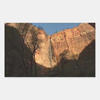 Sonnenaufgang auf der Flussufer-Weg-Spur bei Zion Rechteckiger Aufkleber