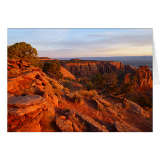 Sonnenaufgang auf der großartigen Ansicht-Spur an Grußkarte