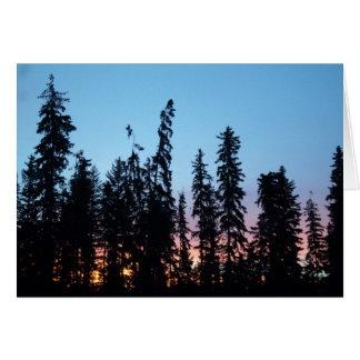 Sonnenaufgang durch Baumkarte Karte