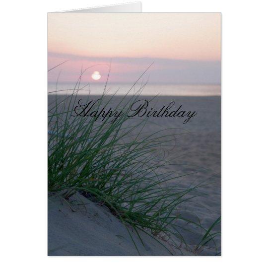 Sonnenaufgang-Geburtstag Grußkarte