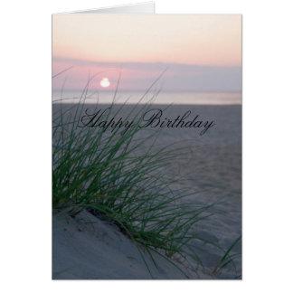 Sonnenaufgang-Geburtstag Karte
