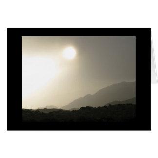 Sonnenaufgang in der hohen Wüste Grußkarte