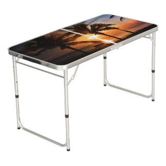 Sonnenaufgang-Sonnenuntergang Sun Beer Pong Tisch