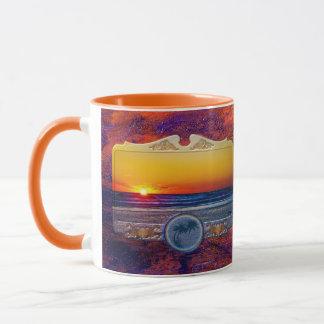 Sonnenaufgang über Atlantik im einzigartigen Tasse