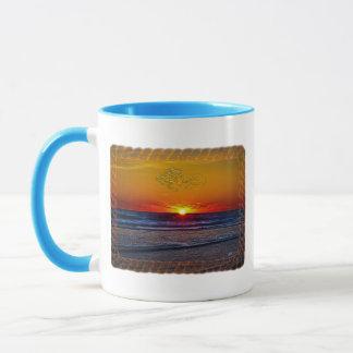 Sonnenaufgang über Atlantik-Seil-Rahmen Tasse