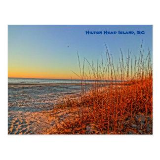 Sonnenaufgang über der Brandung! Hilton Head Postkarte