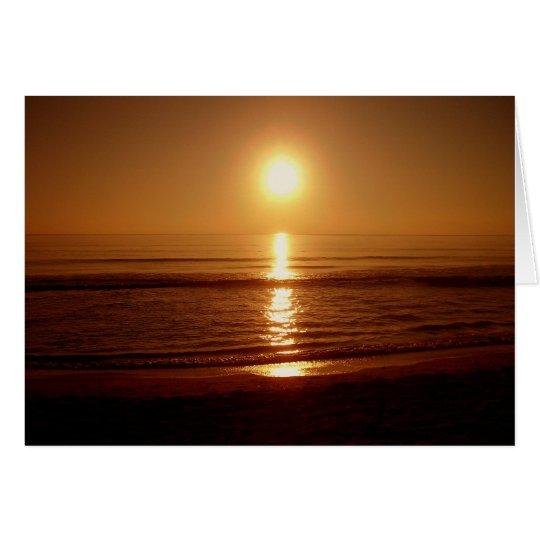 Sonnenaufgang über Ozean Grußkarte