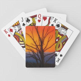 Sonnenaufgang über Yellowstone Nationalpark Spielkarten