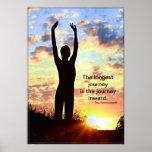 Sonnenaufgang-Yoga - die längste Reise Plakat