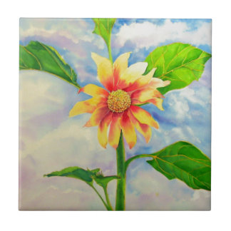 Sonnenblume 1 kleine quadratische fliese