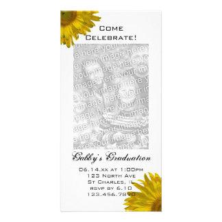 Sonnenblume-Abschluss-Party Einladungs-Foto-Karte Bildkarte
