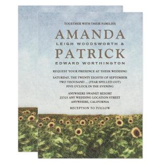 Sonnenblume-Aquarell-Land-Hochzeits-Einladungen 12,7 X 17,8 Cm Einladungskarte