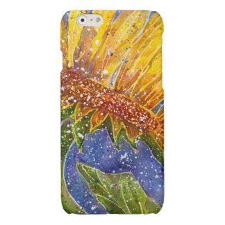 Sonnenblume-Aquarellabdeckung für Telefon
